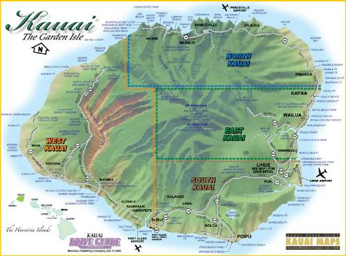Maps Of Kauai Travel Map